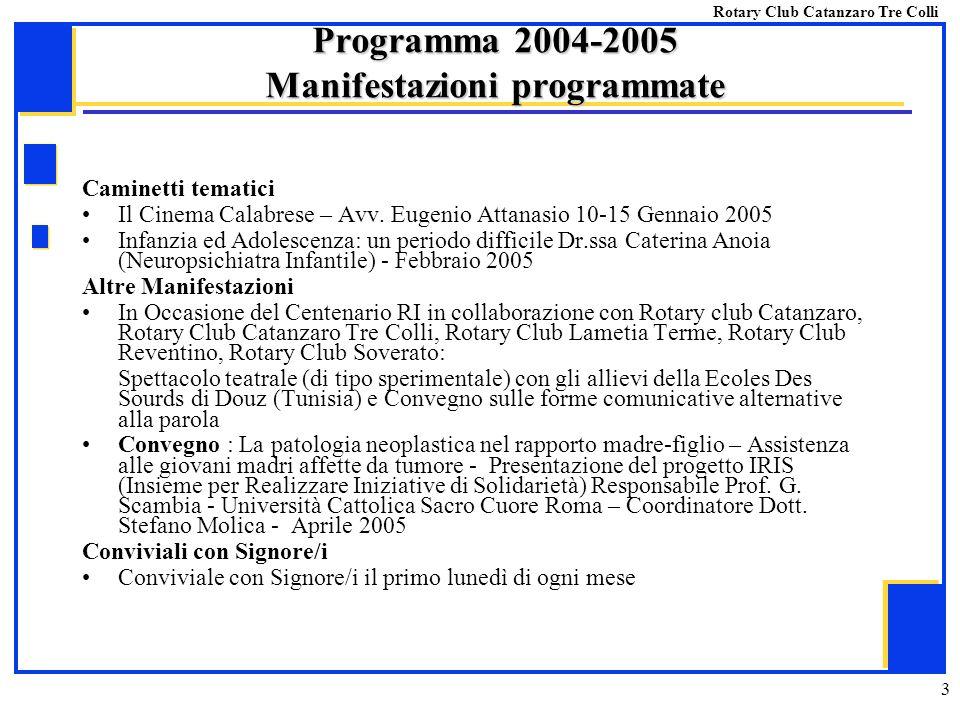 3 Caminetti tematici Il Cinema Calabrese – Avv. Eugenio Attanasio 10-15 Gennaio 2005 Infanzia ed Adolescenza: un periodo difficile Dr.ssa Caterina Ano