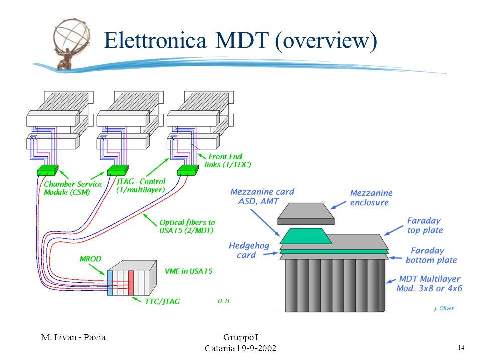 14 M. Livan - PaviaGruppo I Catania 19-9-2002 Elettronica MDT (overview)
