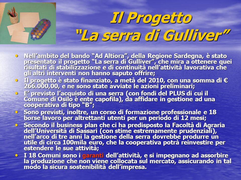 Il Progetto La serra di Gulliver Nellambito del bando Ad Altiora, della Regione Sardegna, è stato presentato il progetto La serra di Gulliver, che mir