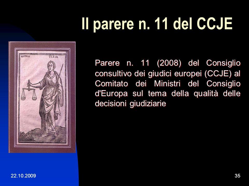 22.10.200934 Il Trib. di I grado CE Cenni