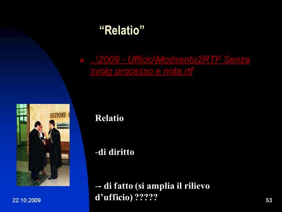 22.10.200952 Relatio Il CTU ha correttamente depurato i conteggi da qualsiasi effetto anatocistico, salva – laddove applicabile - l'applicazione della