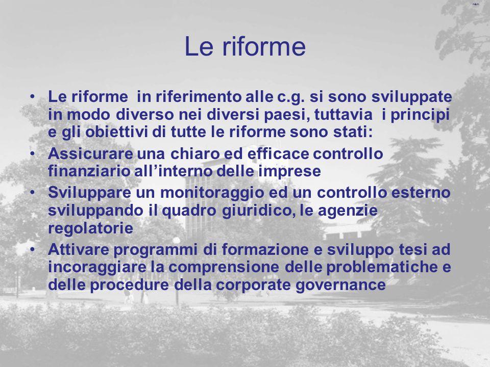 m&m Le riforme Le riforme in riferimento alle c.g.