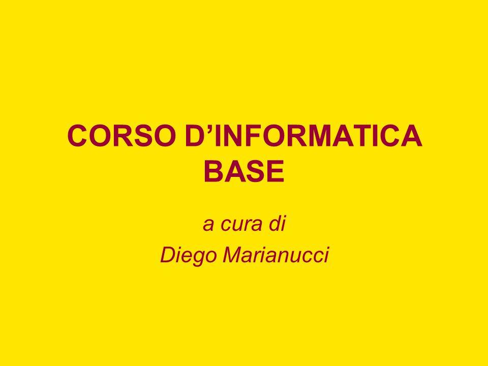 CORSO DINFORMATICA BASE a cura di Diego Marianucci