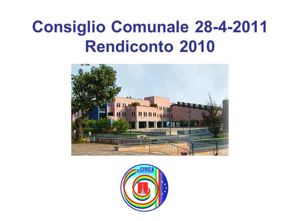 Consiglio Comunale 28-4-2011 Rendiconto 2010