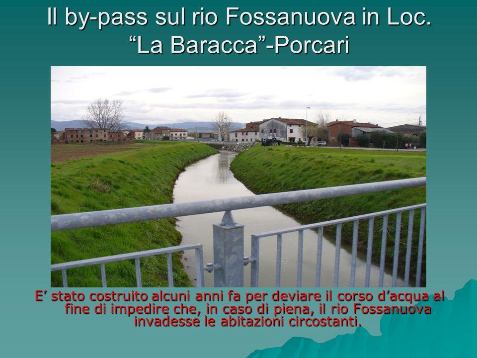 Scogliera sul rio Fossanuova-Porcari La scogliera è composta da una serie di blocchi di pietra fissati con cemento, prevalentemente collocata in prossimità di una curva del corso dacqua, per rinforzarne le sponde.