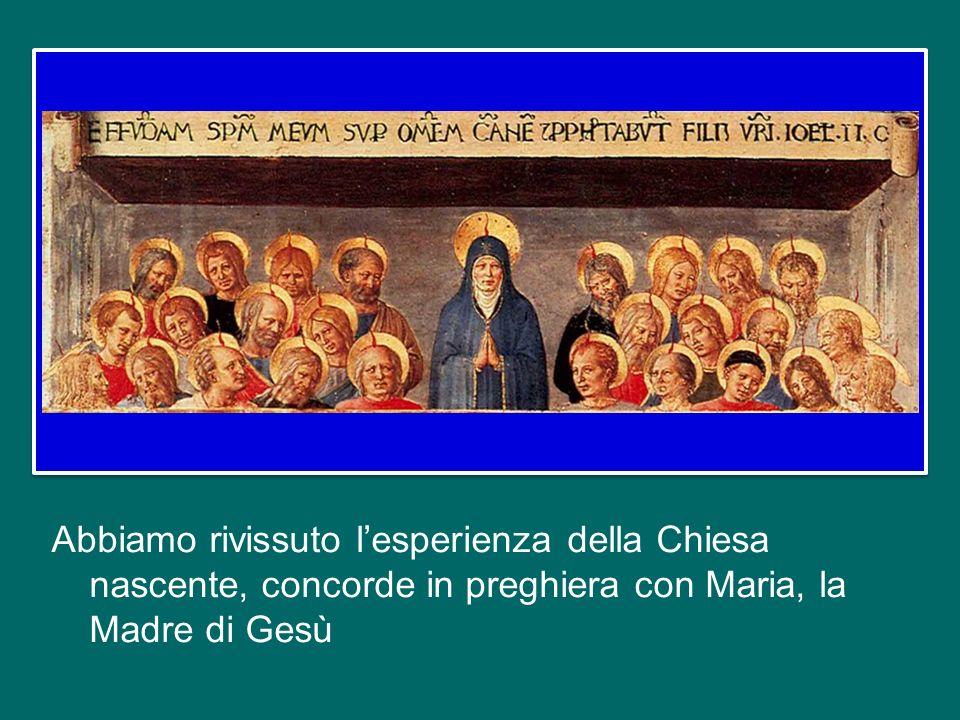 sta per concludersi questa festa della fede, iniziata ieri con la Veglia e culminata stamani nellEucaristia. Una rinnovata Pentecoste che ha trasforma