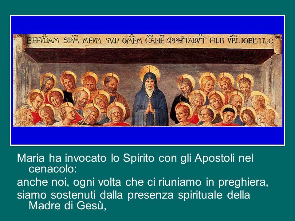 Lei ha concepito Gesù per opera dello Spirito, e ogni cristiano, ognuno di noi, è chiamato ad accogliere la Parola di Dio, ad accogliere Gesù dentro d