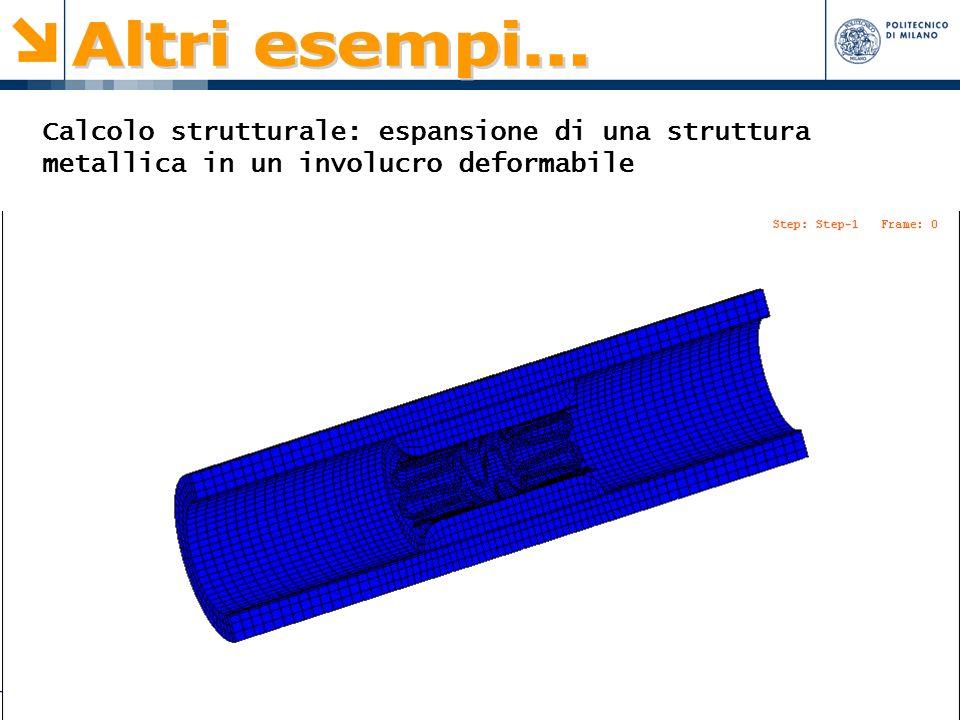 Paolo Zunino 3 Calcolo strutturale: espansione di una struttura metallica in un involucro deformabile