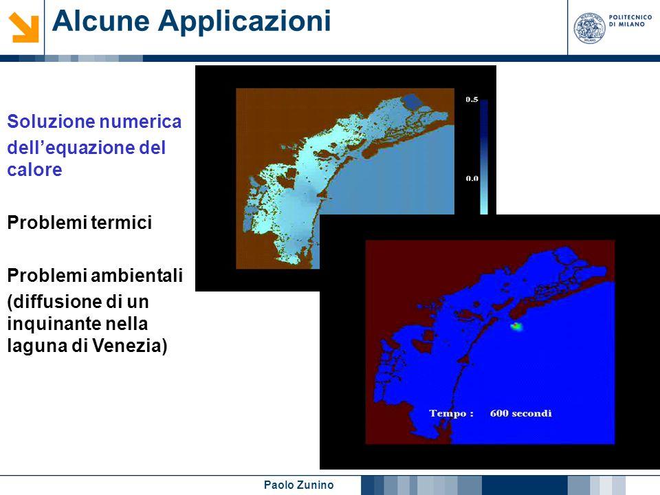 Paolo Zunino Alcune Applicazioni Soluzione numerica dellequazione dellelasticita lineare Applicazioni meccaniche Applicazioni biomediche Calcolo strutturale: espansione di una struttura metallica in un involucro deformabile