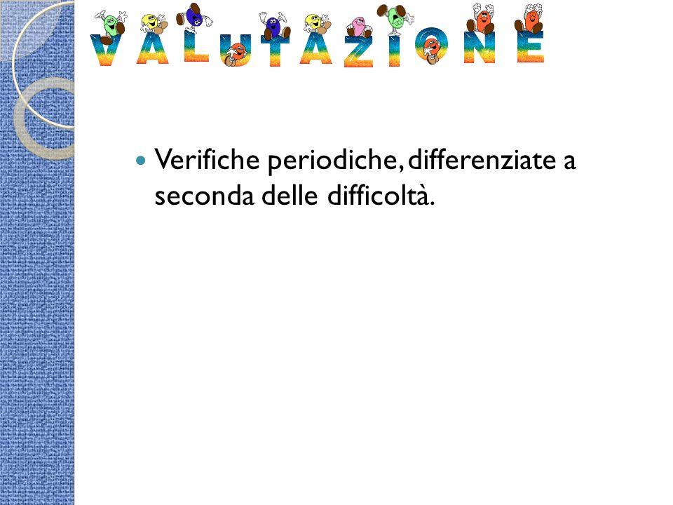 Verifiche periodiche, differenziate a seconda delle difficoltà.