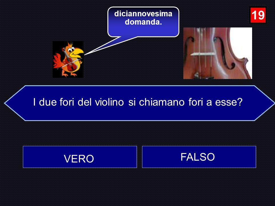 La fisarmonica fu inventata verso la metà dell 800 dall italiano A. Stradella? FALSO VERO …molto bene, Avanti…... 18