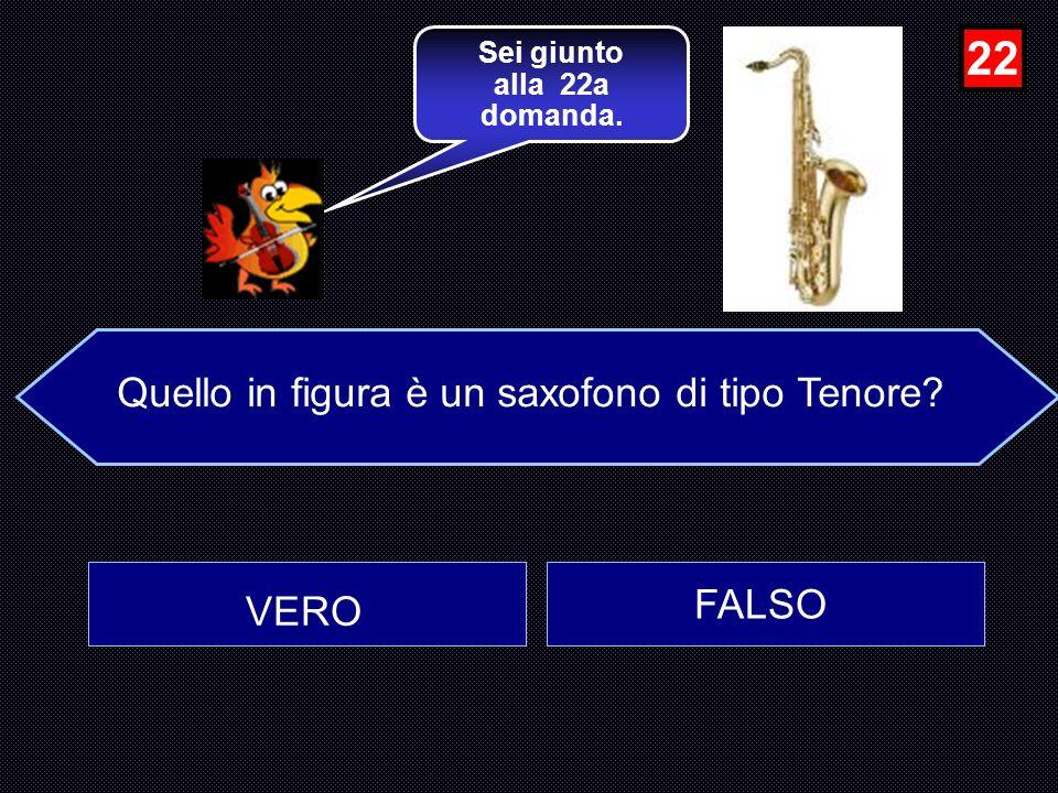 Il rullante è uno strumento membranofono? FALSO VERO …molto bene, Avanti e poi Clicca sulla figura e sentirai Il tamburo rullante…. 21