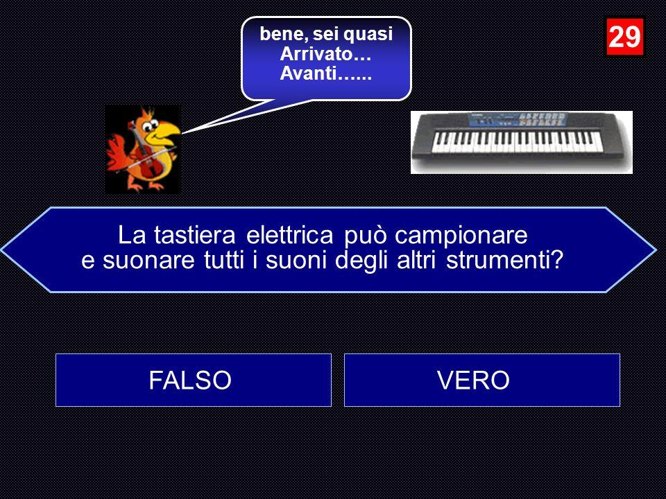 La zampogna è diffusa solo in Italia? FALSO VERO …molto bene, Avanti…... 28