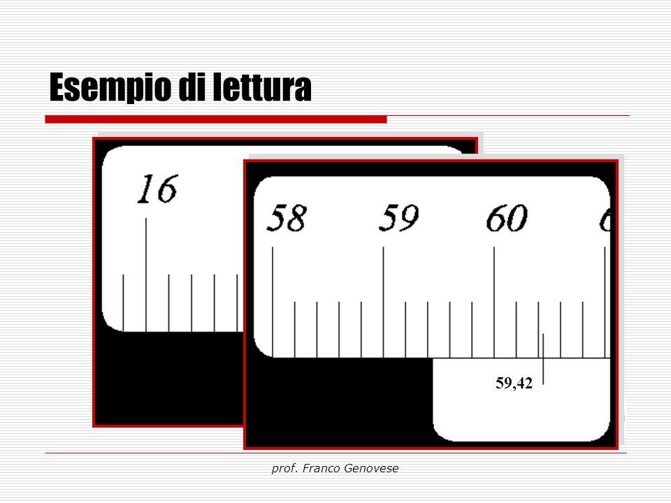 Esempio di lettura prof. Franco Genovese 59,42 17,21