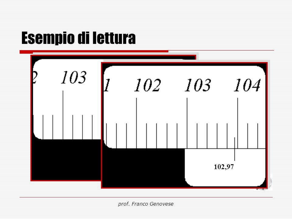 Esempio di lettura prof. Franco Genovese 102,97 104,00