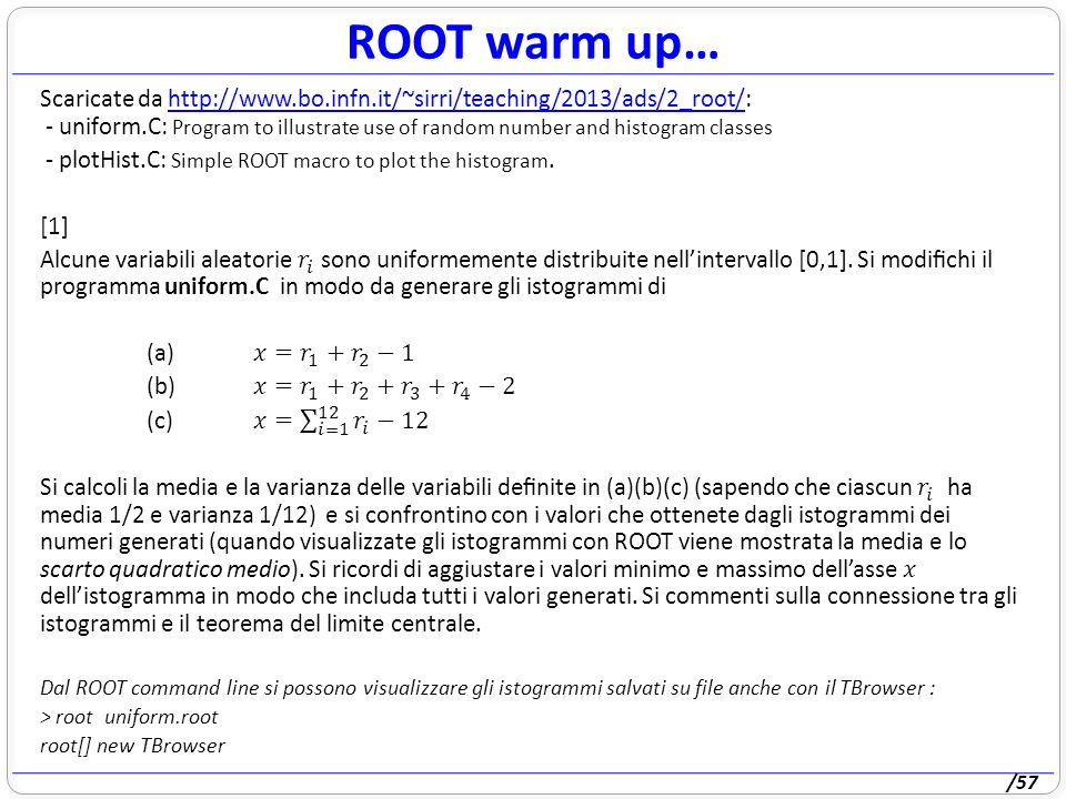 /57 ROOT warm up…