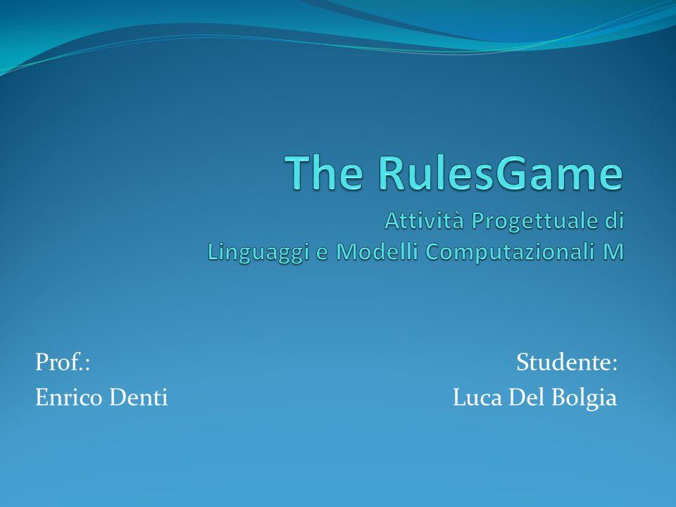 Studente: Luca Del Bolgia Prof.: Enrico Denti