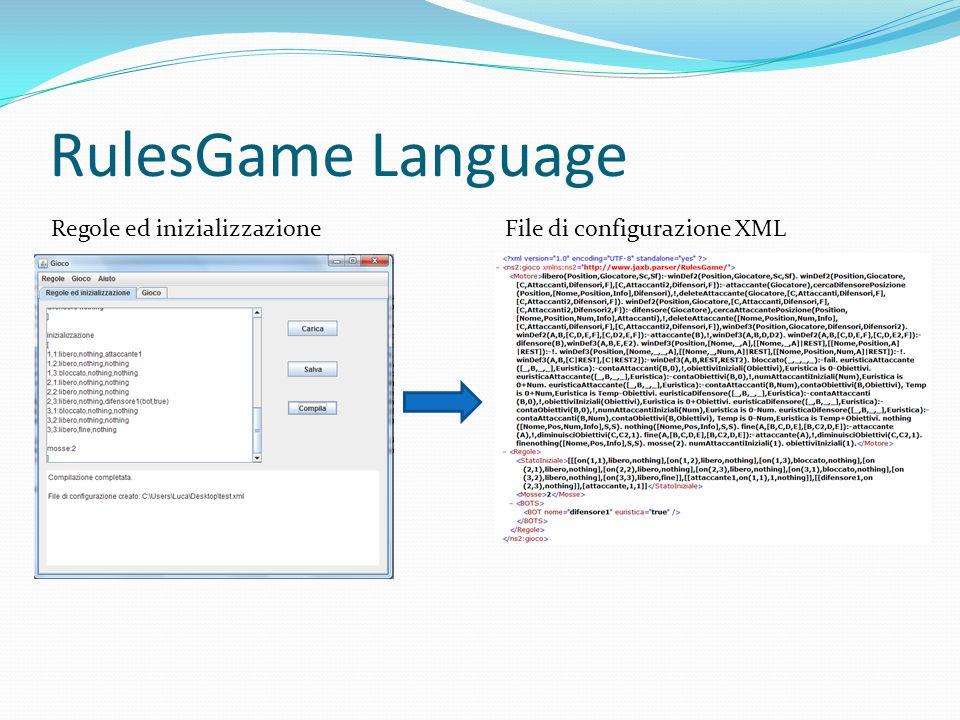 RulesGame Language File di configurazione XMLRegole ed inizializzazione
