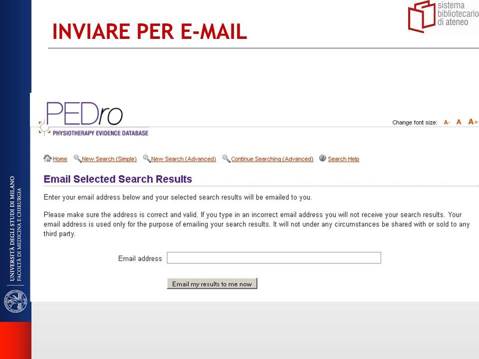 INVIARE PER E-MAIL
