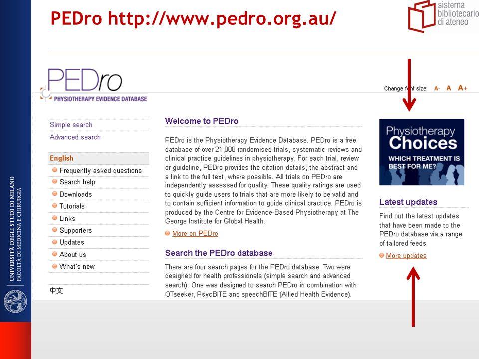 PEDro http://www.pedro.org.au/