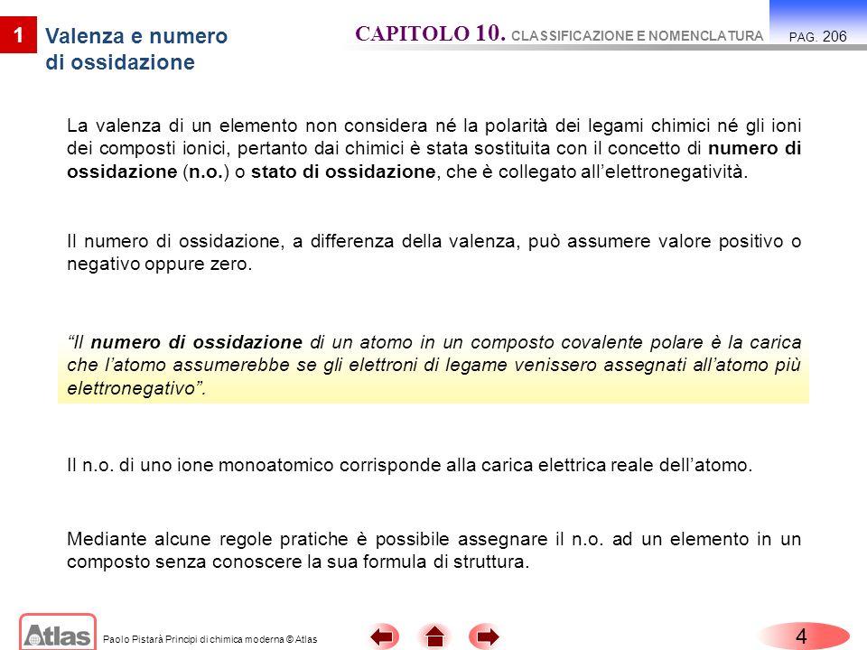 Paolo Pistarà Principi di chimica moderna © Atlas 15 4 I composti ternari PAG.