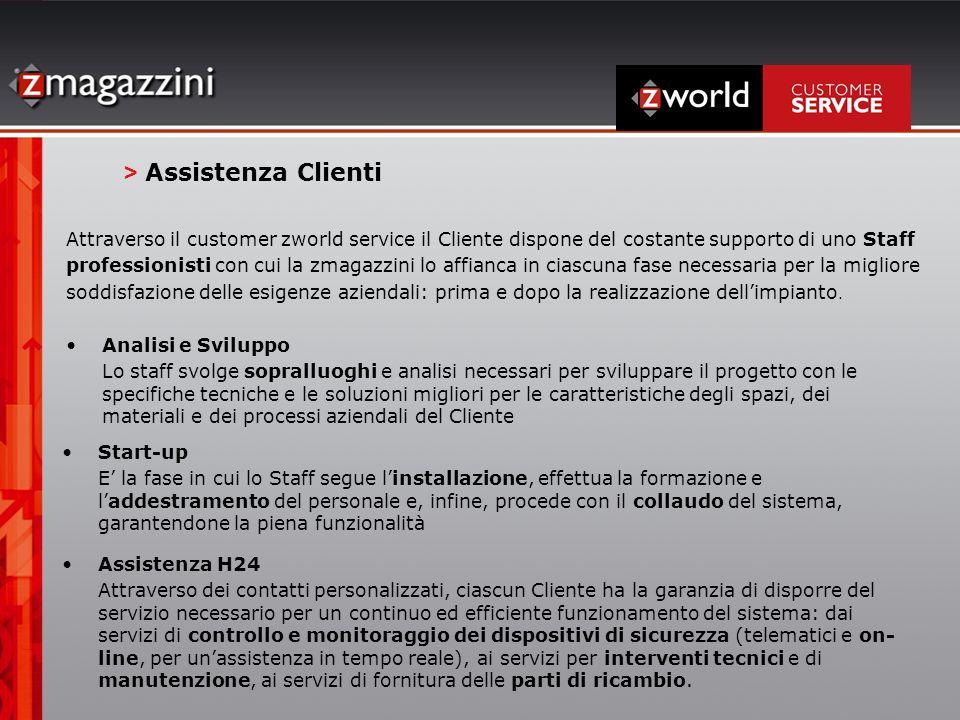 Attraverso il customer zworld service il Cliente dispone del costante supporto di uno Staff professionisti con cui la zmagazzini lo affianca in ciascu