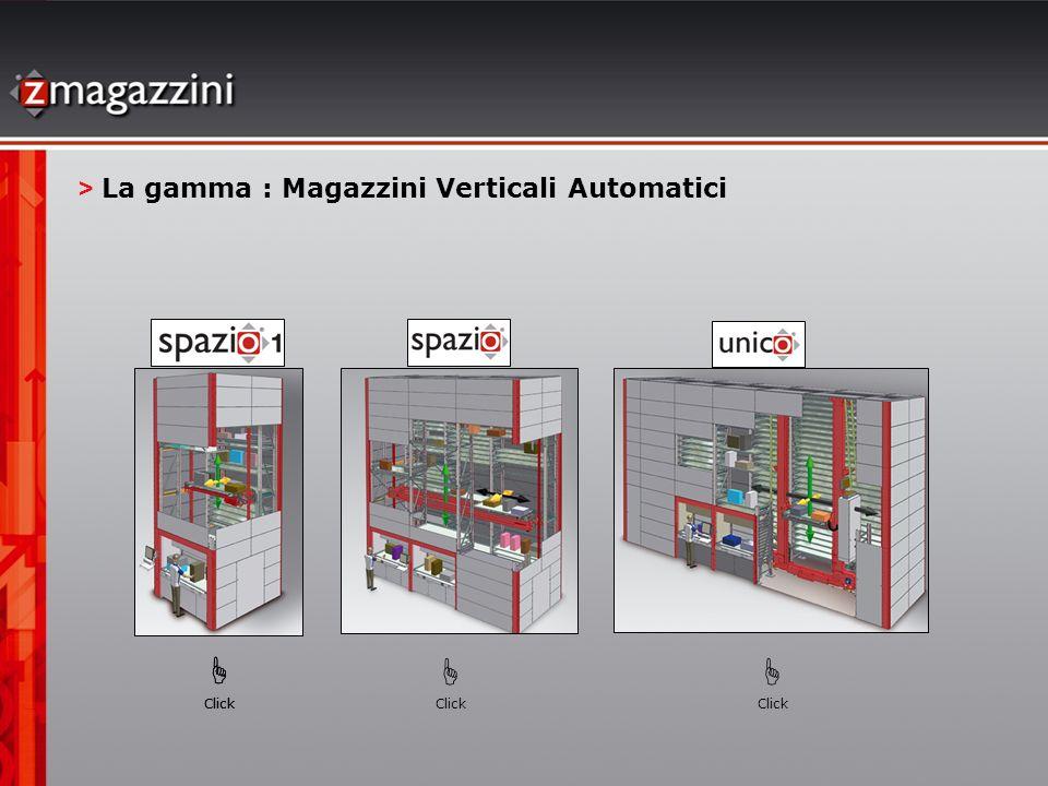 > La gamma : Magazzini Verticali Automatici Click Click Click