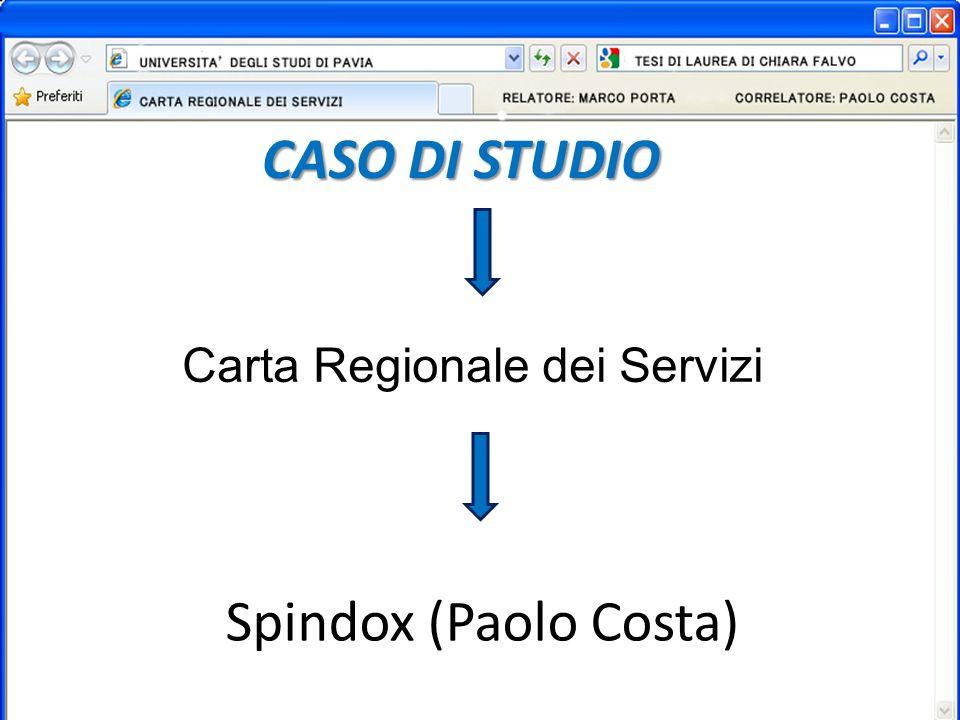 CASO DI STUDIO Carta Regionale dei Servizi Spindox (Paolo Costa)