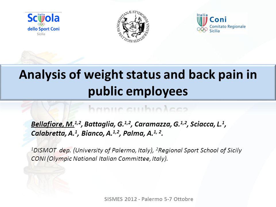 SISMES 2012 - Palermo 5-7 Ottobre Bellafiore, M. 1,2, Battaglia, G.