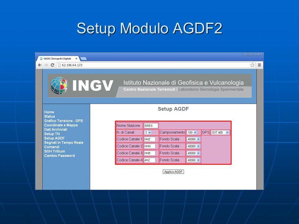 Setup Modulo AGDF2