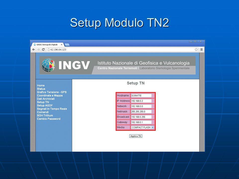 Setup Modulo TN2