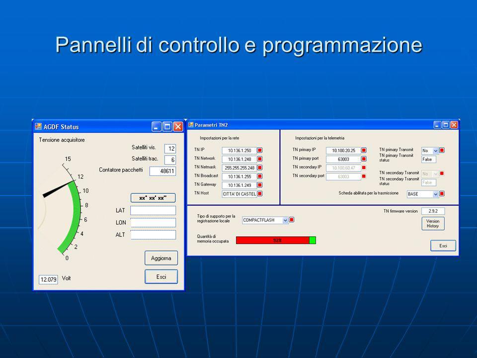 Pannelli di controllo e programmazione