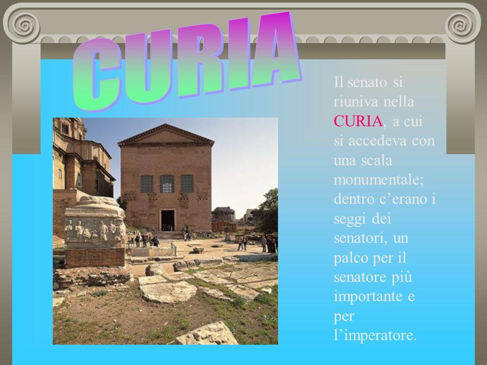 TEMPLI: nel foro sorgevano diversi templi, dedicati alle divinità più importanti; alcuni di essi non servivano solo per le funzioni religiose: il Tempio di Saturno a Roma, per esempio, fungeva da tesoreria.