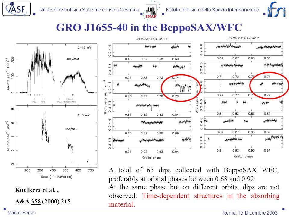 Istituto di Astrofisica Spaziale e Fisica CosmicaIstituto di Fisica dello Spazio Interplanetario Roma, 15 Dicembre 2003 Marco Feroci XTE J1748-288: BeppoSAX and XMM-Newton BeppoSAX and XMM-Newton search for the quiescent counterpart: only Upper Limit at 10 -14 erg cm -2 s -1 (assuming PL with =2 and N H =5x10 22 cm -2 ).