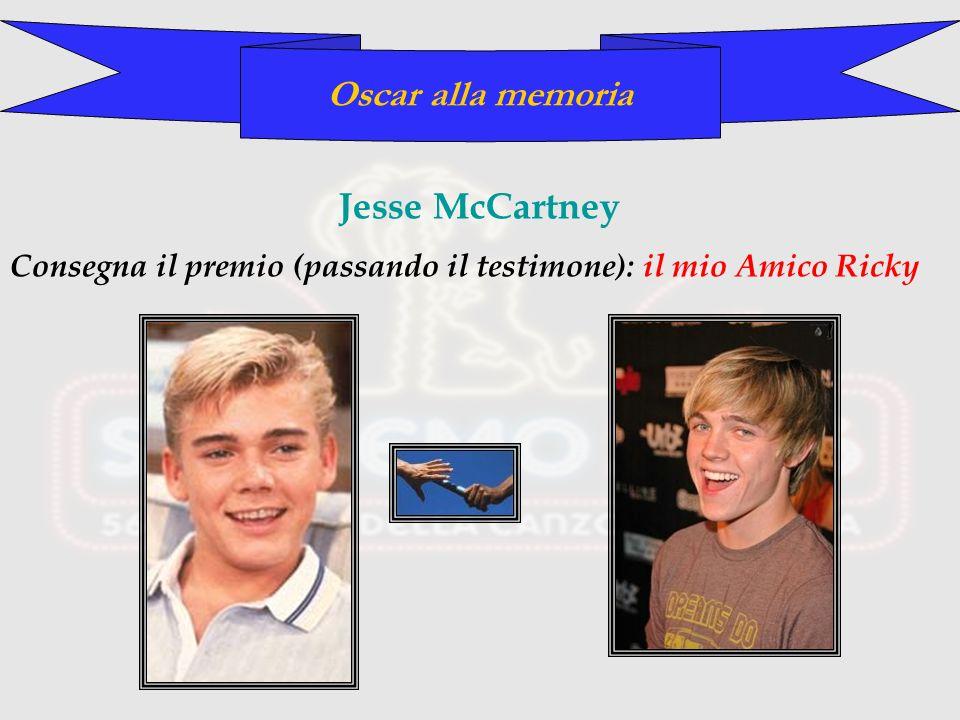 Oscar alla memoria Jesse McCartney Consegna il premio (passando il testimone): il mio Amico Ricky