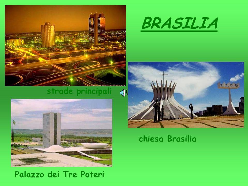BRASILIA strade principali chiesa Brasilia Palazzo dei Tre Poteri