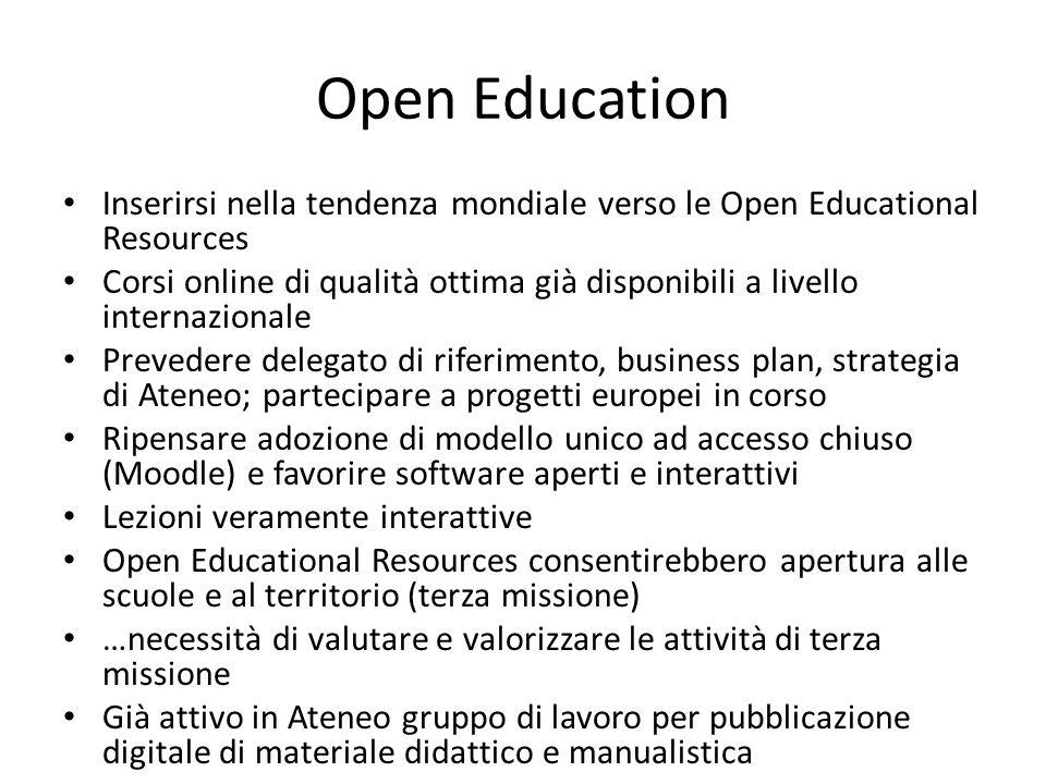 Open source software Come si fa a pensare a software open source se tutte le procedure di Ateneo girano su prodotti proprietari.