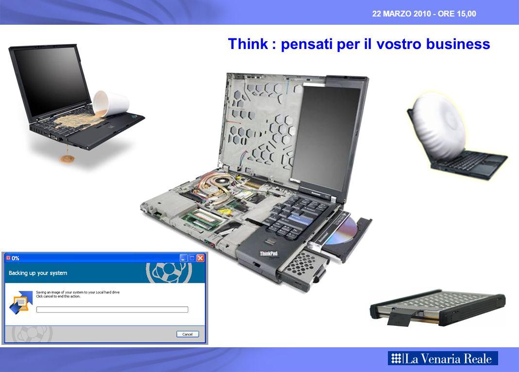 22 MARZO 2010 - ORE 15,00 Think : pensati per il vostro business