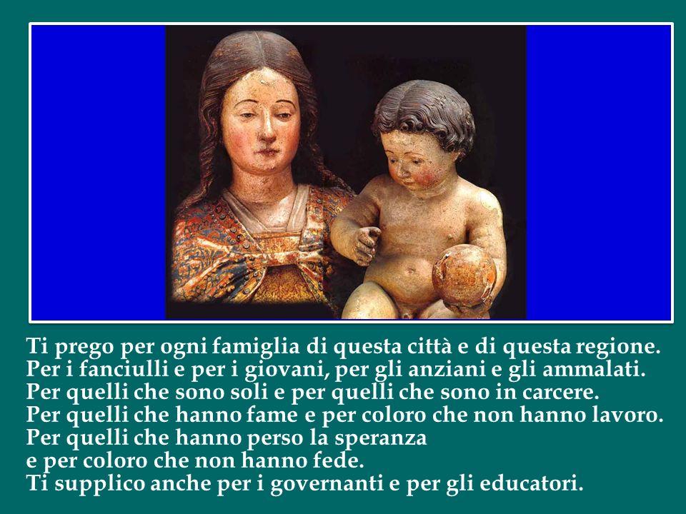 Beatissima Vergine e Nostra Signora di Bonaria. A te, con tanta fiducia, consacro ognuno dei tuoi figli, tu ci conosci e noi sappiamo che ci vuoi molt