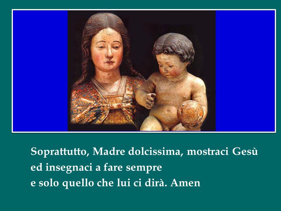 Madre nostra custodisci tutti con tenerezza e donaci la tua forza e tanta consolazione.