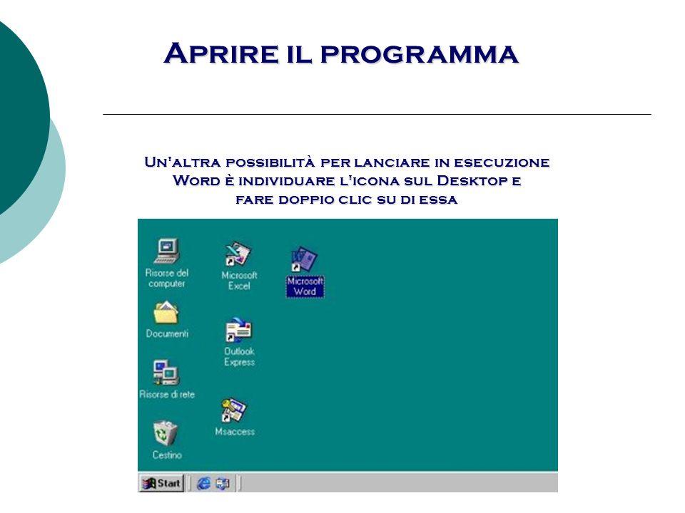 Aprire il programma Con Office, Microsoft fornisce la Barra degli strumenti di Office, che normalmente si dispone su uno dei quattro lati della videata.
