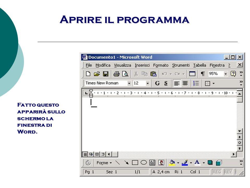Aprire un documento esistente 1.Fare clic su File.