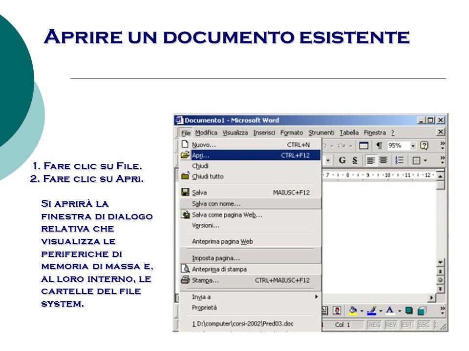 Chiudere il file finestra di dialogo Nuovo, nella quale si può scegliere sia il documento vuoto, sia un altro documento tipo, da scegliere tra i modelli forniti con il programma.