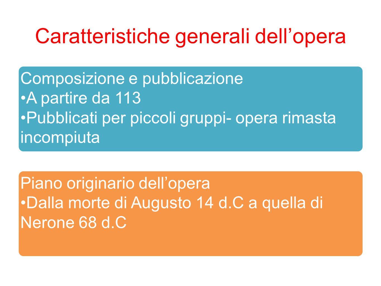 Caratteristiche generali dellopera Composizione e pubblicazione A partire da 113 Pubblicati per piccoli gruppi- opera rimasta incompiuta Piano origina
