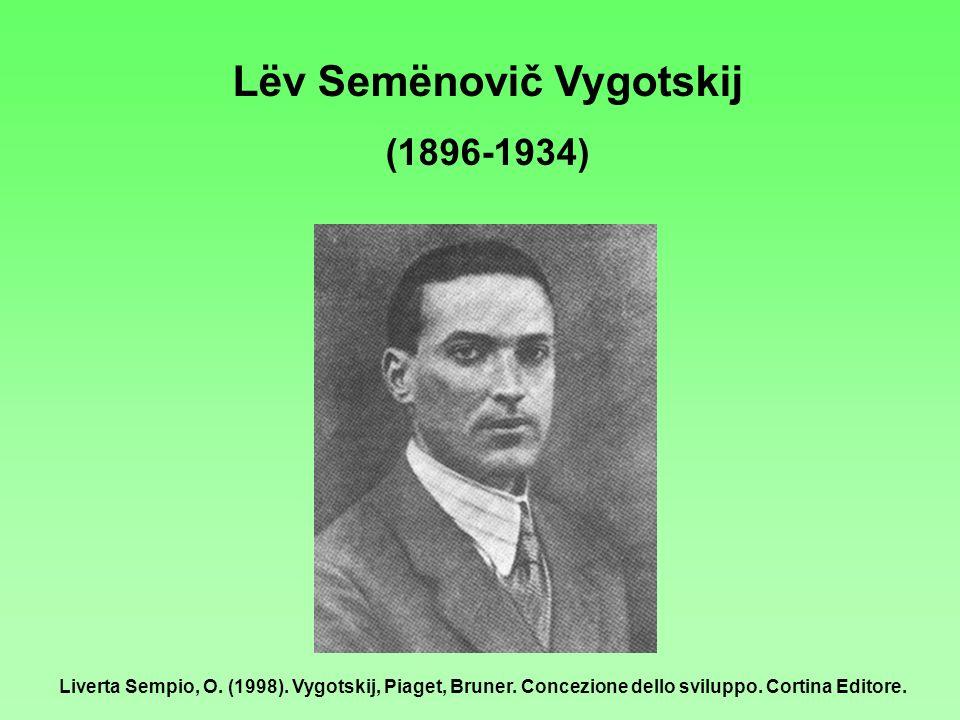Lёv Semёnovič Vygotskij (1896-1934) Liverta Sempio, O. (1998). Vygotskij, Piaget, Bruner. Concezione dello sviluppo. Cortina Editore.