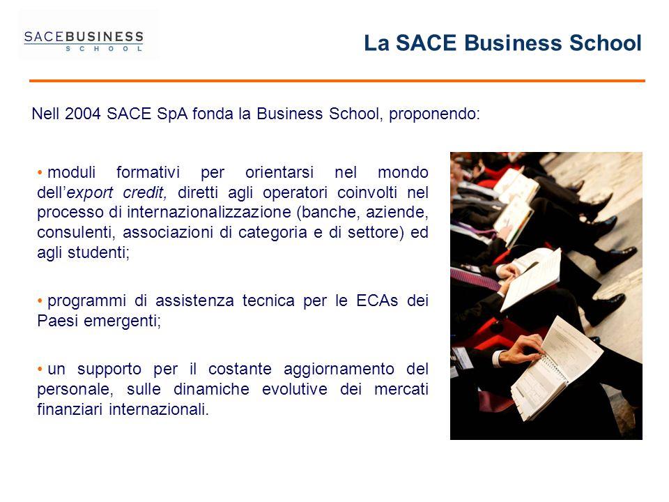 La SACE Business School moduli formativi per orientarsi nel mondo dellexport credit, diretti agli operatori coinvolti nel processo di internazionalizz