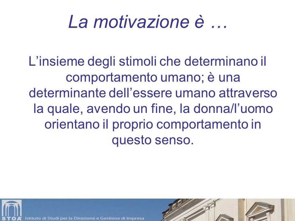 Motivazione Energia che spinge ad avvicinarsi a qualcosa o allontanarsi da qualcosaltro Siamo motivati… dal desiderio di ciò che ancora non abbiamo Si