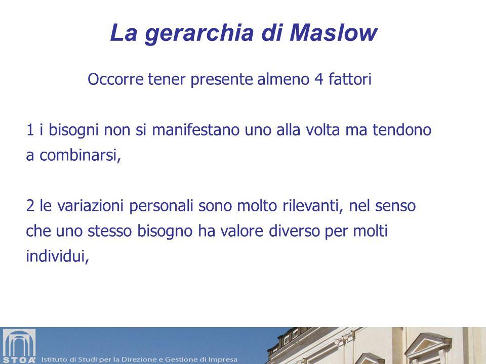 Scala dei Bisogni di Maslow Autorealizzazione Stima Auto-stima Amore Appartenenza Intimità SicurezzaSaluteProtezione CiboAriaAcquaRiposoAttività
