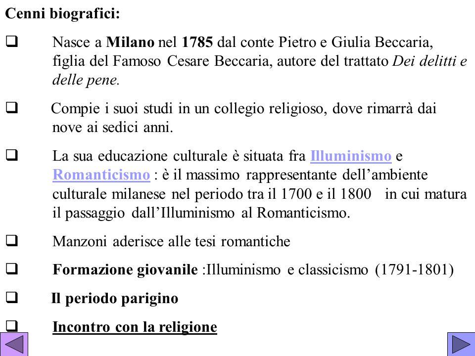 Cenni biografici: Nasce a Milano nel 1785 dal conte Pietro e Giulia Beccaria, figlia del Famoso Cesare Beccaria, autore del trattato Dei delitti e del