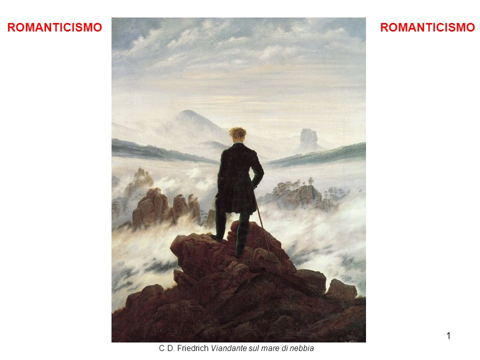 1 ROMANTICISMO C.D. Friedrich Viandante sul mare di nebbia ROMANTICISMO